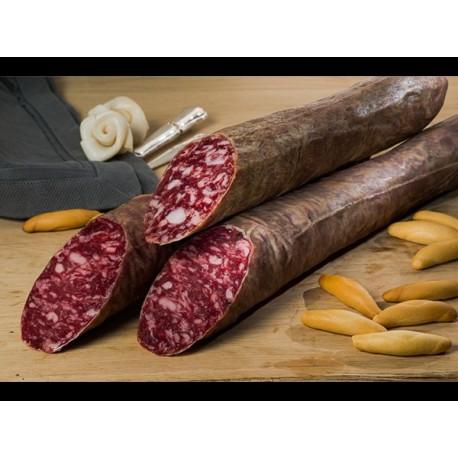 Salchichón cular ibérico Bellota, sin gluten.
